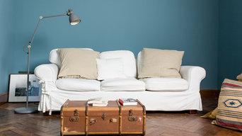 Wohnzimmer in Kreidefarbe Favory 240