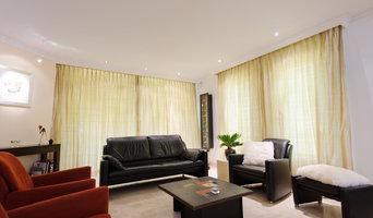 Wohnzimmer mit PLameco Spanndecke renoviert