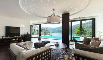 Wohnzimmer mit LEDSternenhimmel