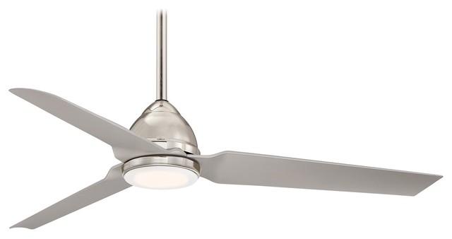 "Minka Aire Java Led Polished Nickel 54"" Indoor Ceiling Fan."