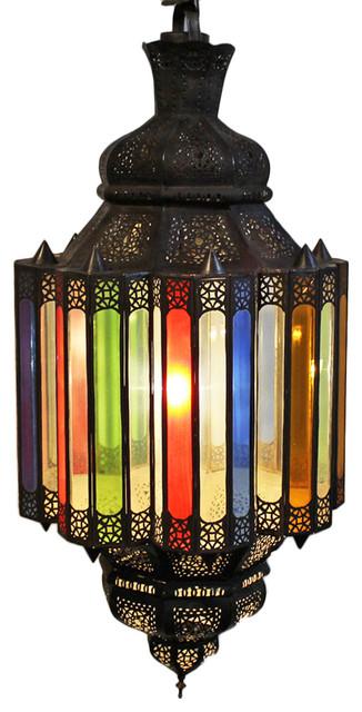 Multi Color Moroccan Chandelier