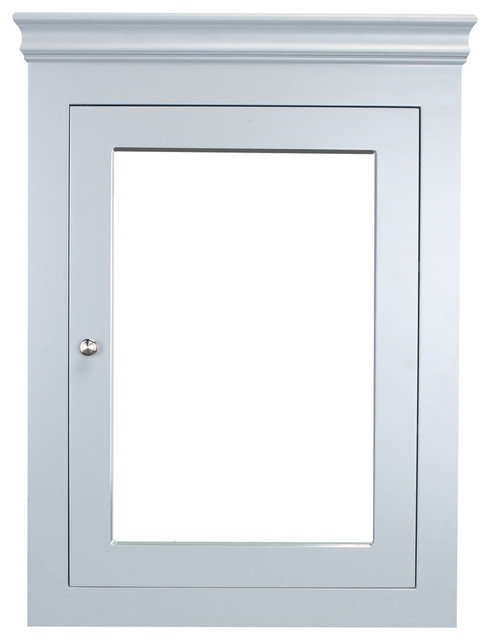 Eviva New York 24 Inch Gray Wall Mount Medicine Cabinet.