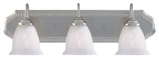 Savoy House Spirit 3-Light Bath Bar, Pewter