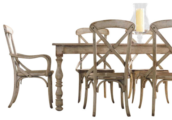 Hooker Furniture Wakefield Rectangle Leg Dining Table Farmhouse - Hooker dining tables