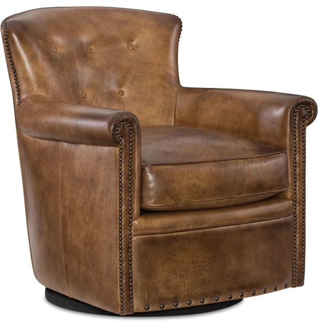 Jacob Swivel Club Chair Transitional Armchairs And