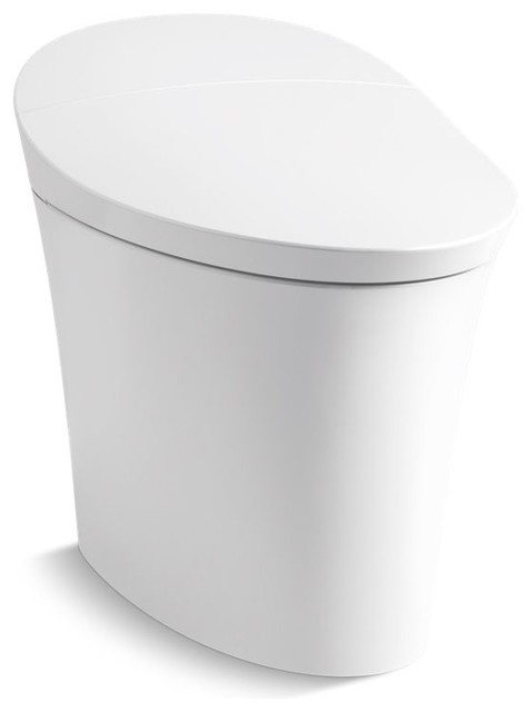 Kohler Veil Intelligent Skirted 1-Piece Elongated Dual-Flush Toilet, White