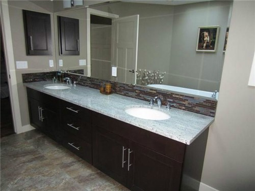 Tile to go with Kashmir White granite and dark cabinets??