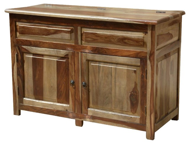 Unique Solid Wood Espresso Storage Cabinet Buffet - Rustic ...