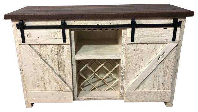 Reclaimed Wood Barn Door Server