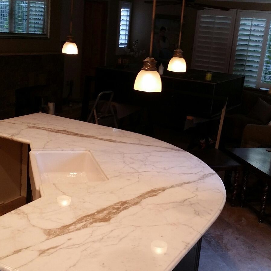 Marble Kitchen Island