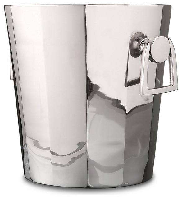 Tuxedo Hollywood Regency Silver Modern Deco Ice Bucket