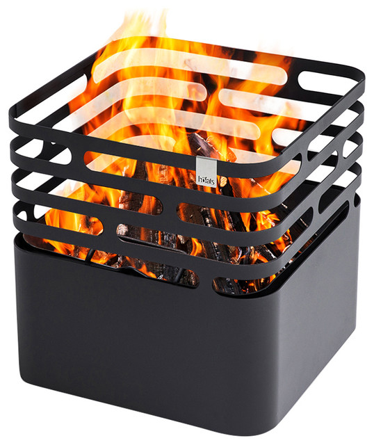 Cube Fire Basket, Black