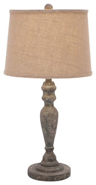 Clic Wood Table Lamp An Antique Beige Cream Shade Accent Decor