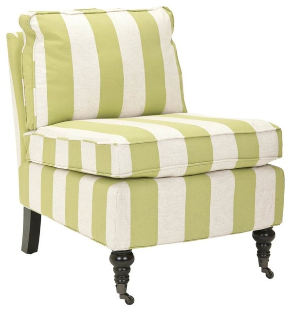 Lovely Zoey Armless Club Chair, Green Traditional Armchairs And Accent Chairs