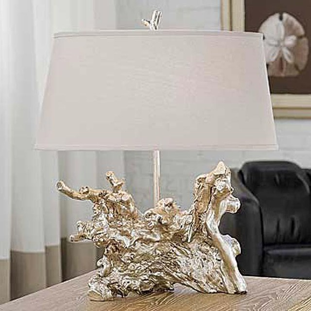 Regina Andrew Amber Silver Root Table Lamp