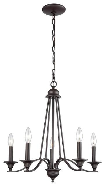 Farmington 5-Light Chandelier, Oil Rubbed Bronze