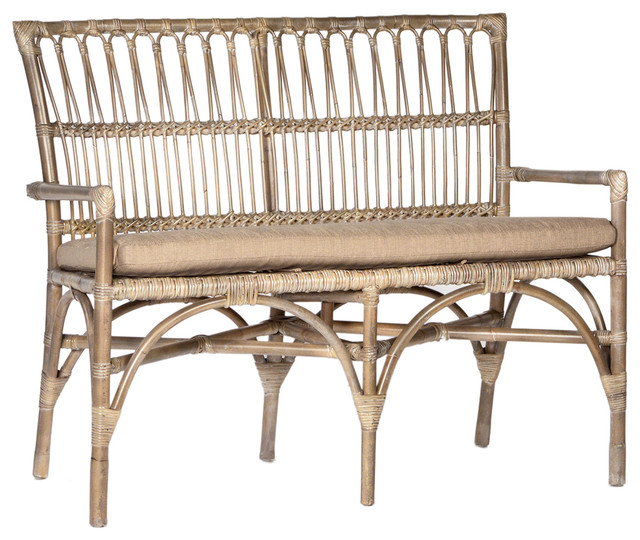 Bamboo Entry Bench Tropical Accent And Storage Benches By Design Mix Furniture