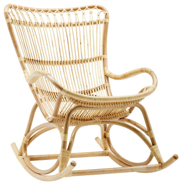 Awesome Alexis Coastal Beach Natural Rattan Rocking Chair Spiritservingveterans Wood Chair Design Ideas Spiritservingveteransorg