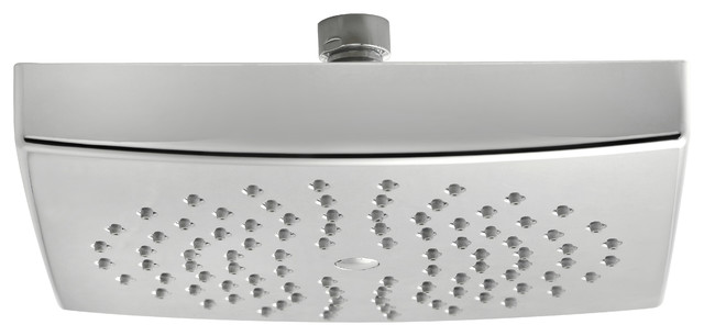 Chrome-Plated Brass Shower Head, Square