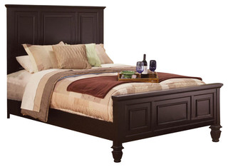 1PerfectChoice - Sandy Beach King Panel Bed, Cappuccino & Reviews   Houzz