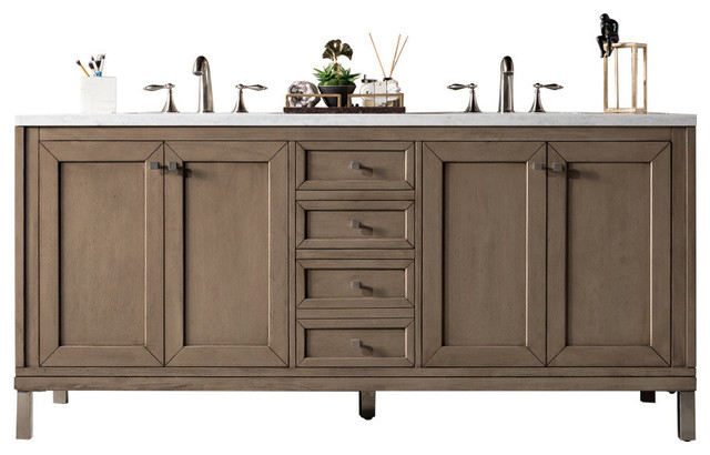 """Syracuse Double Bathroom Vanity, Without Top, 72""""."""
