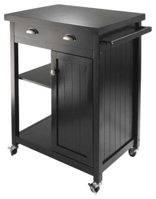 Timber Kitchen Cart With Wainscot Panel.