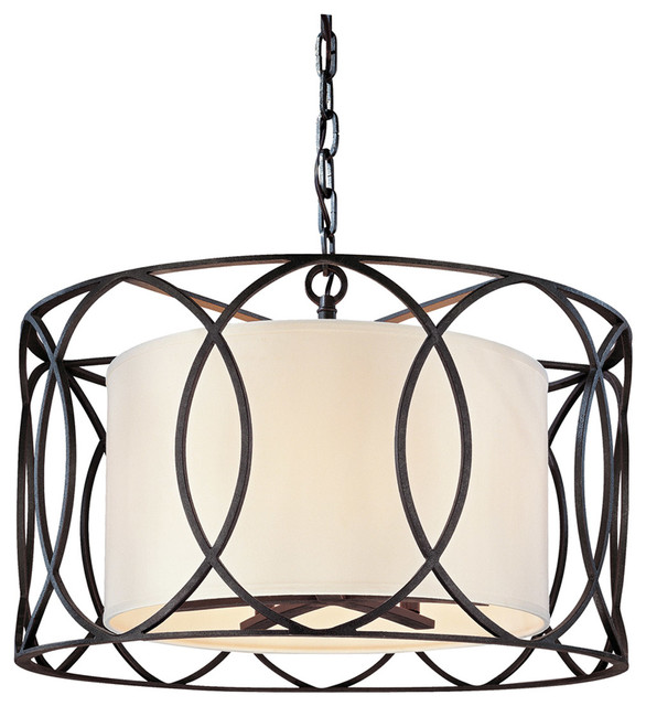 Sausalito 5-Light Pendant Dining, Deep Bronze