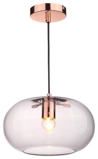 Kobe Glass And Copper Pendant Light.