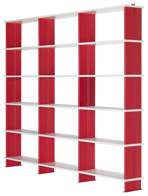 Valerio Bookcase, Red.