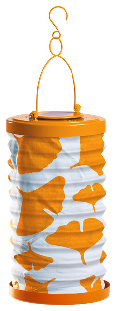 Allsop Soji Canvas Gingko Lantern, Orange.