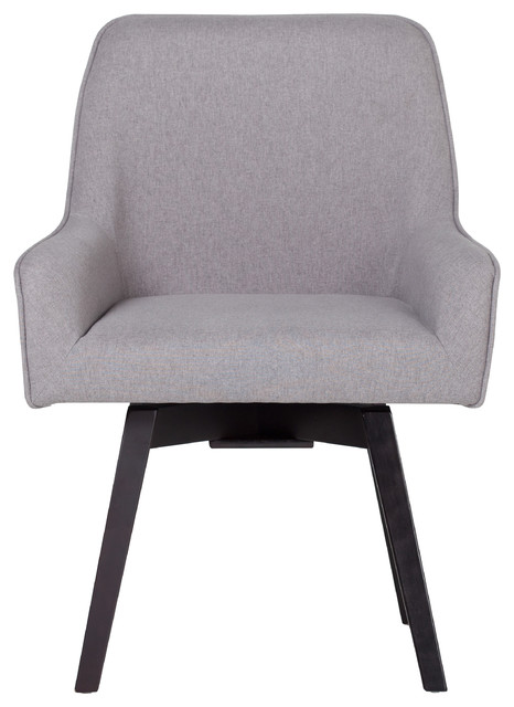 Exceptionnel Spire Swivel Upholstered Office Chair, Gray