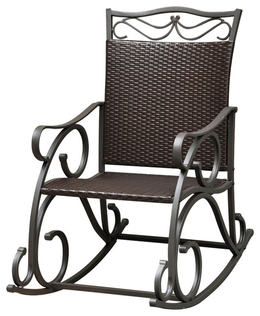 Valencia Resin Wicker Steel Rocker Mediterranean