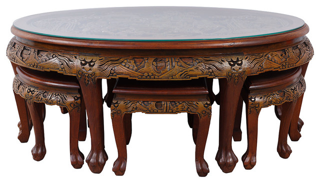 Consigned Chinese Antique Teak Wood Massive Carved Coffee  : traditional coffee table sets from www.houzz.com size 640 x 366 jpeg 87kB