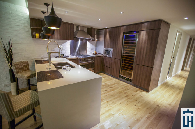 Example of a minimalist home design design in Hong Kong