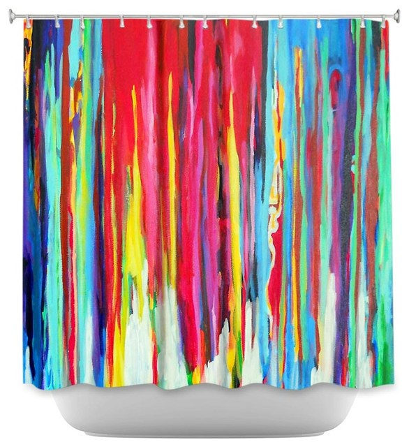 Shower Curtain Unique From Dianoche Designs Neon Abstract