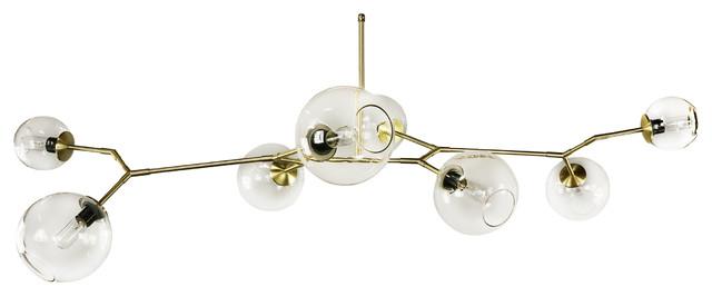 Modern Branching Bubble Chandelier 8 Globes - Modern - Chandeliers ...