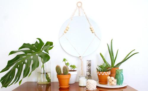 DIY miroir macramé