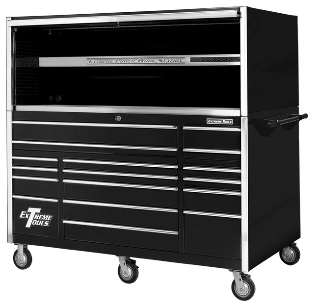 ... Professional Roller Cabinet, Black - Garage And Tool Storage | Houzz