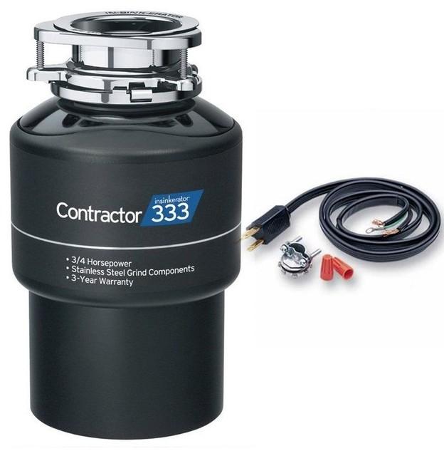 InSinkErator Contractor 333 Contractor Series 3/4 HP Garbage - Power Cord