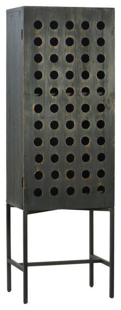 Industrial Wood Cabinet.