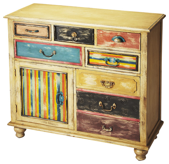 Alsace Solid Wood Console Chest Eclectic Console Tables