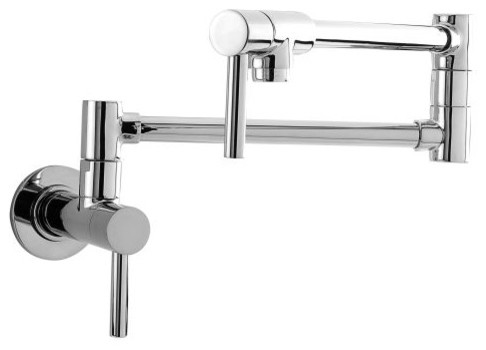 Newport Brass 9485 East Linear Double Handle Wall Mounted Pot Filler Faucet.