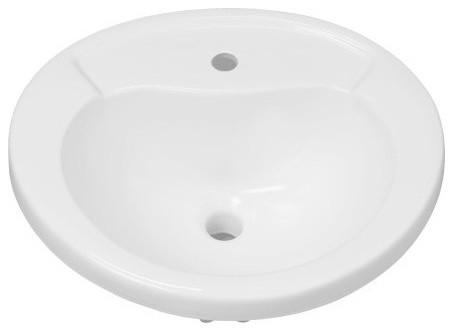 Provincetown 21-5/8 Porcelain Drop, Bathroom Sink, Overflow.
