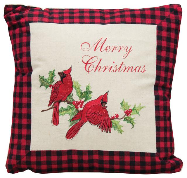 """Holiday Cardinal Pillow, 16"""""""