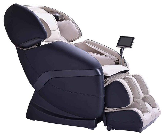 Ogawa Active L Massage Chair, Ivory, Black by Cozzia USA