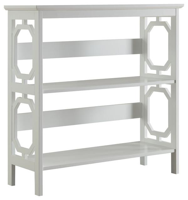 Omega 3-Tier Bookcase, White.