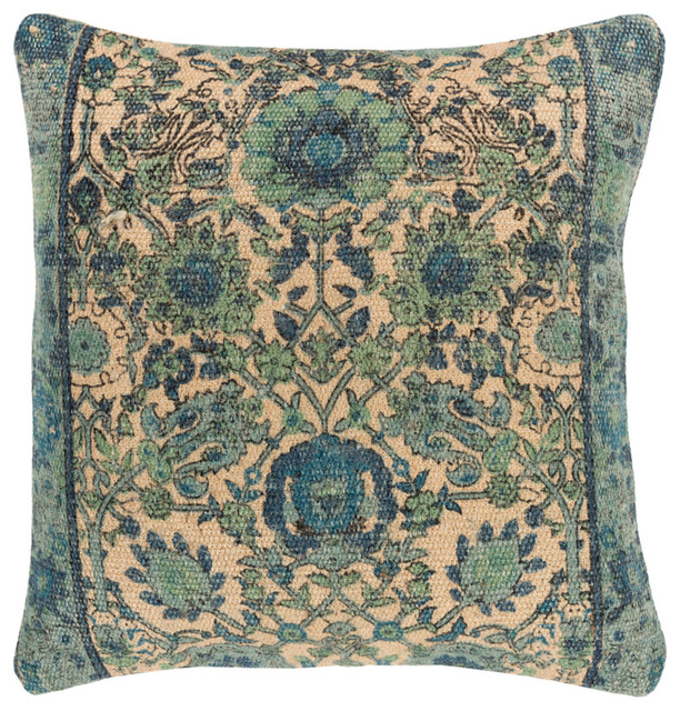 Surya Shadi 30x30x5 Khaki Pillow Kit Square.
