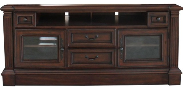 "Parker House Franklin 65"" Tv Console In Vintage Umber."