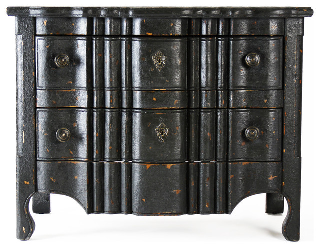 Elysee Masculine Antique Black French Country Commode Chest  traditional dressers   Elysee Masculine Antique Black. Black Antique Furniture   Antique Furniture