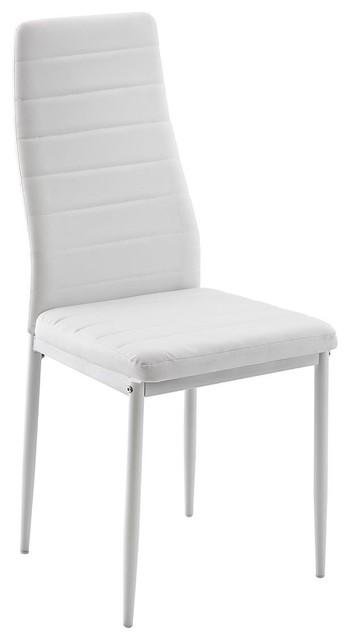 Carolina White Base Dining Chair, White